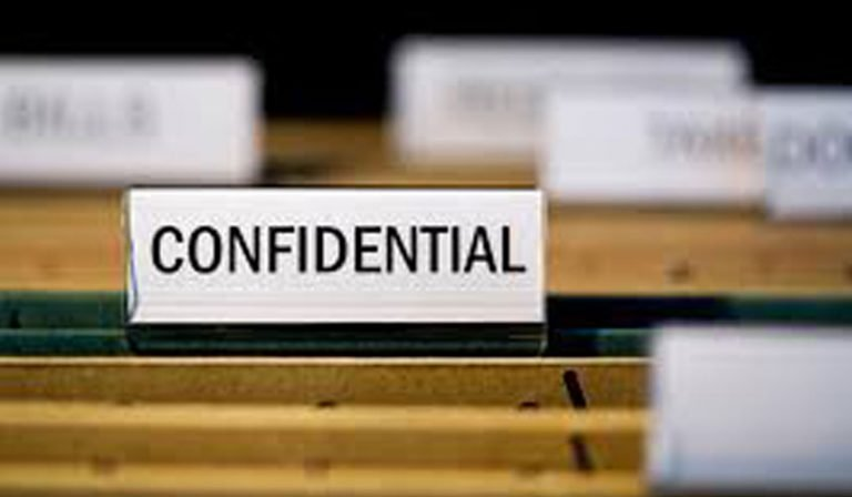 Confidentiality at workplace